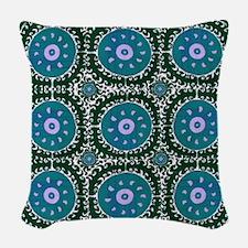Bohemian Suzani Woven Throw Pillow