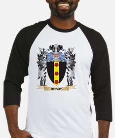 Rosas Coat of Arms - Family Crest Baseball Jersey