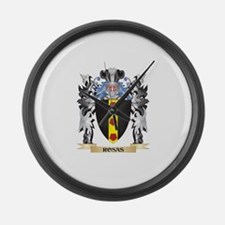 Rosas Coat of Arms - Family Crest Large Wall Clock