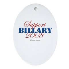 2008 Election Candidates Oval Ornament