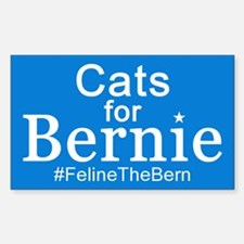 Cats for Bernie Sticker (Rectangle)