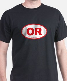 Oregon OR Euro Oval T-Shirt