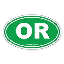 Oregon OR Euro Oval Decal