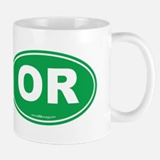 Oregon OR Euro Oval Mug