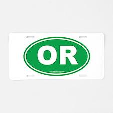 Oregon OR Euro Oval Aluminum License Plate