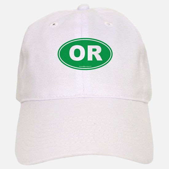 Oregon OR Euro Oval Baseball Baseball Cap
