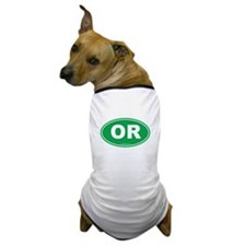 Oregon OR Euro Oval Dog T-Shirt