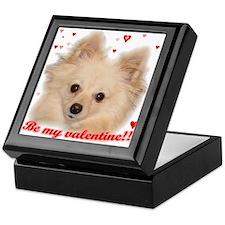 Valentine Pomeranian Keepsake Box