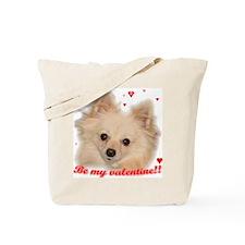 Valentine Pomeranian Tote Bag