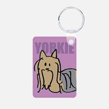 Yorkie Rectangle Keychains