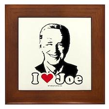 I Love Joe Framed Tile