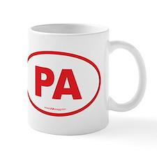 Pennsylvania PA Euro Oval Mug