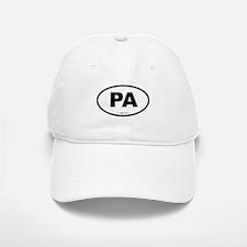 Pennsylvania PA Euro Oval Baseball Baseball Cap