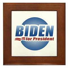 Biden for President Framed Tile