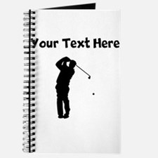 Golfer Silhouette Journal