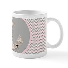anchor girly pink chevron Mugs