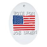 Vote for Joe Biden Oval Ornament