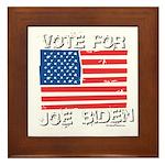 Vote for Joe Biden Framed Tile