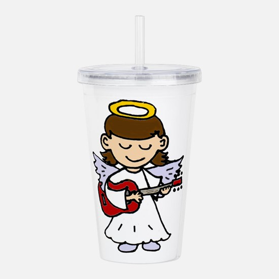 Cute Girl Angel Playin Acrylic Double-wall Tumbler