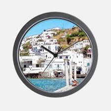 The Hills of Greece Wall Clock