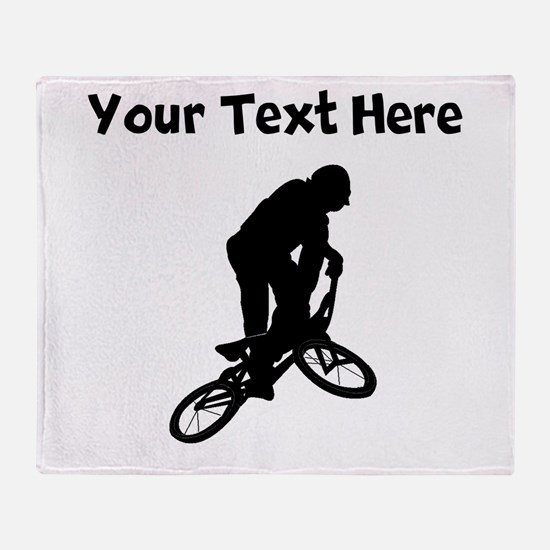 BMX Biker Silhouette Throw Blanket
