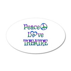 Peace Love Theatre Wall Decal