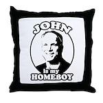 JOHN IS MY HOMEBOY Throw Pillow
