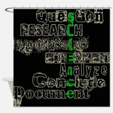 Funny Evolution research Shower Curtain