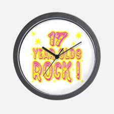 17 Year Olds Rock ! Wall Clock