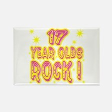 17 Year Olds Rock ! Rectangle Magnet (10 pack)