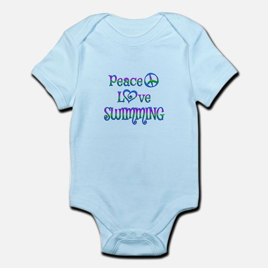 Peace Love Swimming Infant Bodysuit