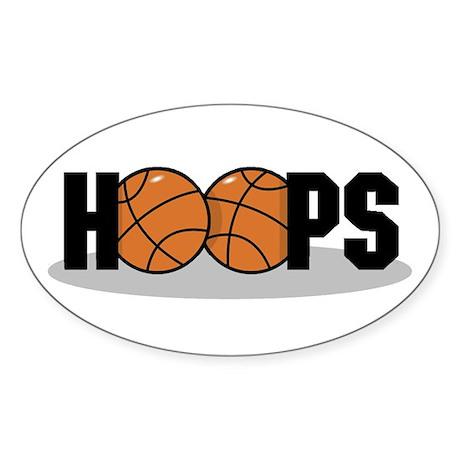 Basketball Hoops Oval Sticker