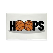 Basketball Hoops Rectangle Magnet