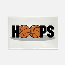 Basketball Hoops Rectangle Magnet