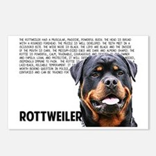Cute Rottweilers Postcards (Package of 8)