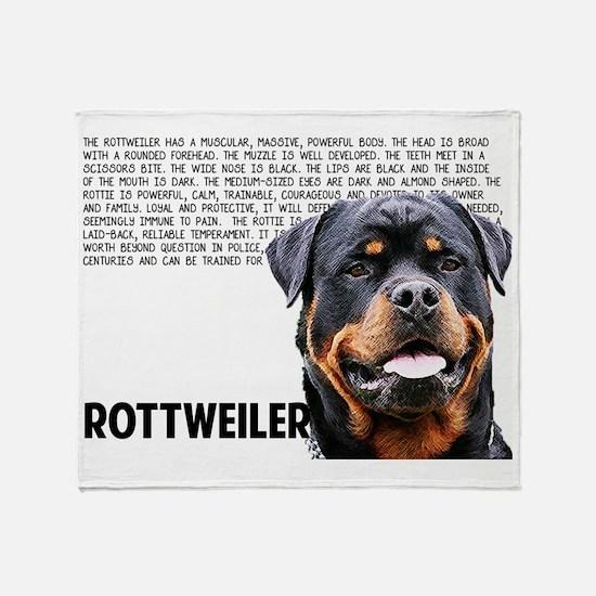 Cute Rottweiler Throw Blanket