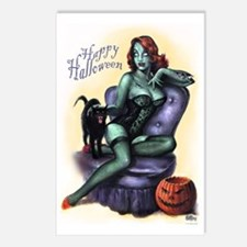 Halloween Zombie Girl Pin Postcards (Package of 8)