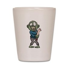 Zombie eating arm Shot Glass