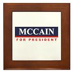 MCCAIN for President Framed Tile
