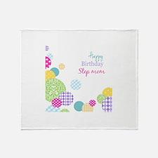 Happy Birthday Step Mom Throw Blanket
