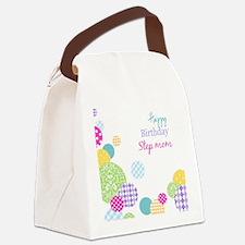 Happy Birthday Step Mom Canvas Lunch Bag