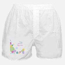 Happy Birthday Step Mom Boxer Shorts
