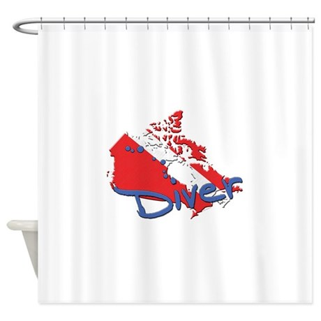Canada Diver Shower Curtain By ADeWittDesign