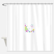 Happy Birthday Mom Shower Curtain