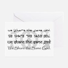 """We Share the Same God"" Greeting Cards (Pk of 10)"