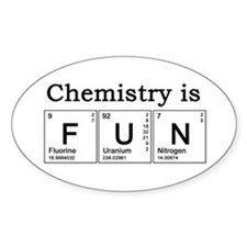 Chemistry Fun Oval Decal