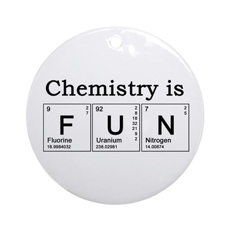 Chemistry Fun Ornament (Round)