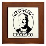 McCain is my homeboy Framed Tile
