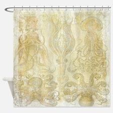Vintage Haeckel Octopus Shower Curtain