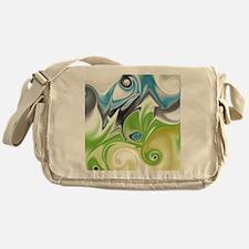 Stunning in Aqua and Green Messenger Bag